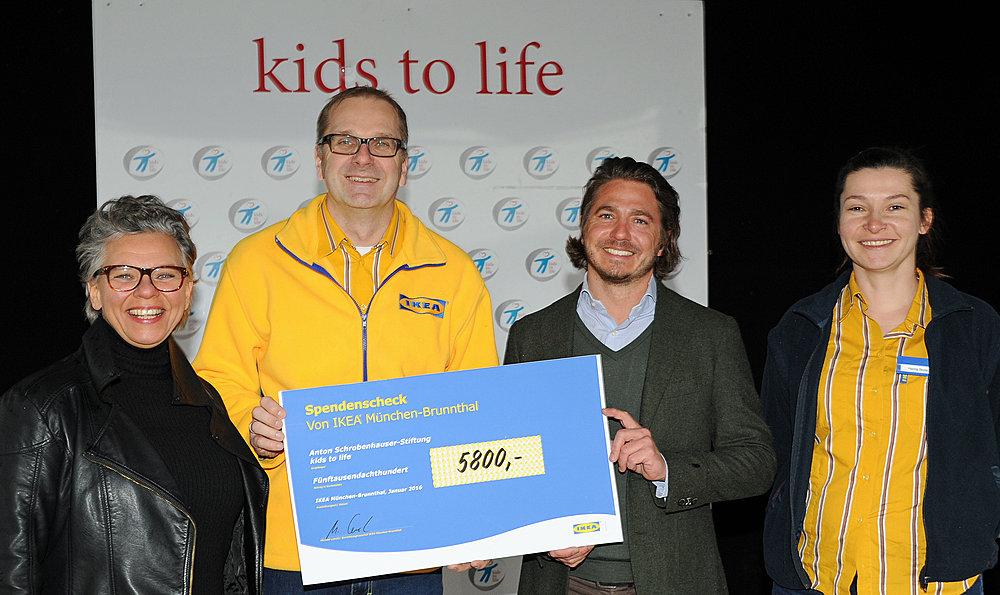 5.800,- Euro Spende von IKEA Brunnthal