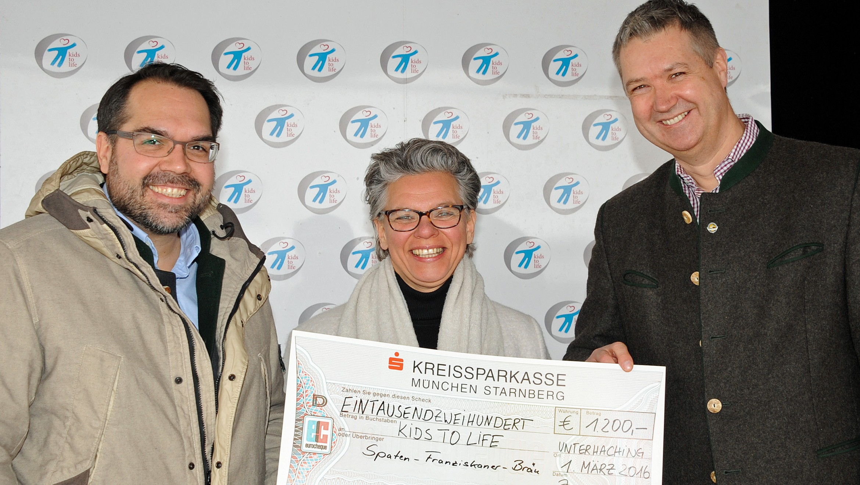 Franziskaner-Spaten-Bräu unterstützt kids to life