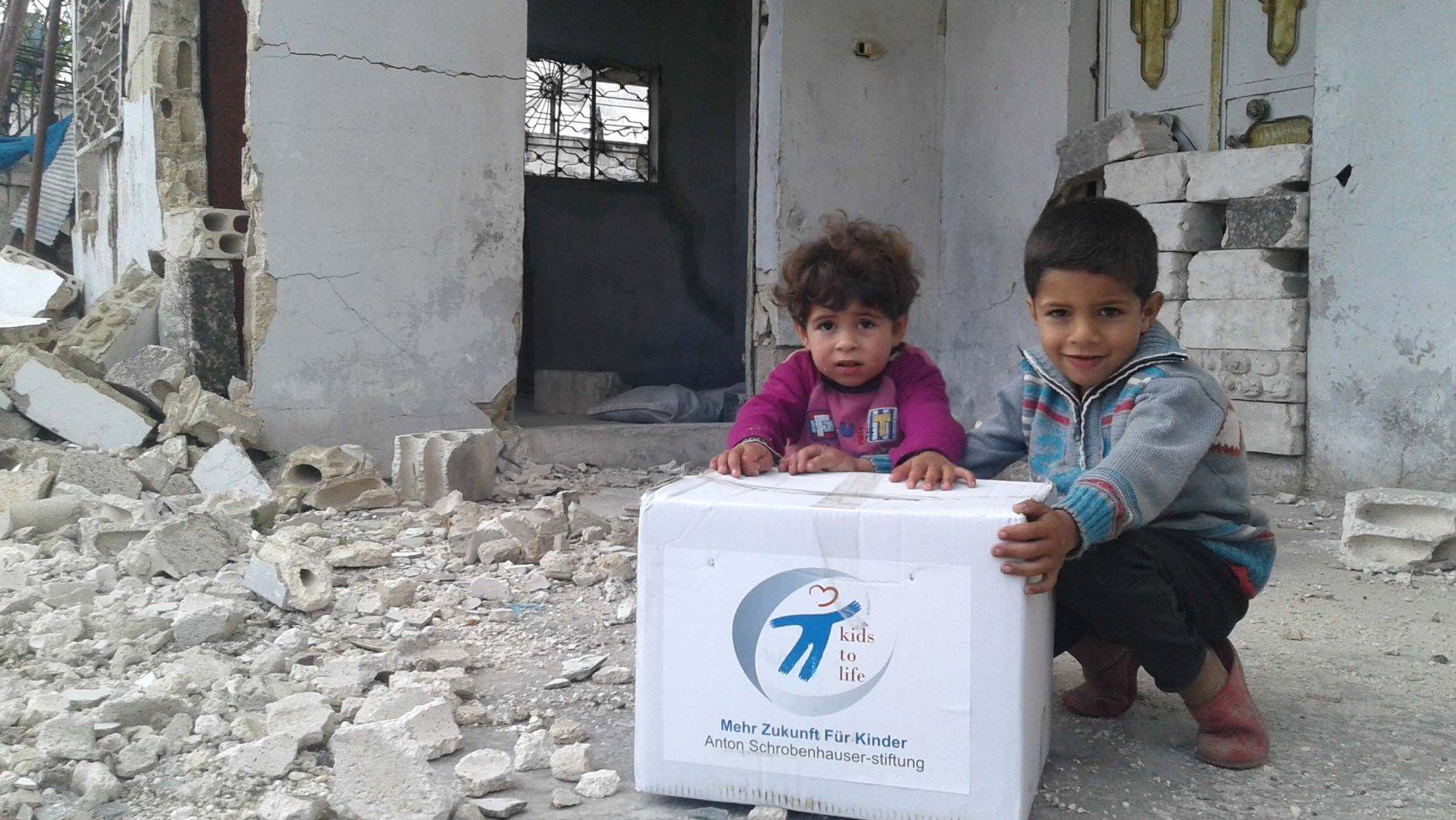 """Verdopplungsaktion """"Spenden für Überlebenspakete"""""""