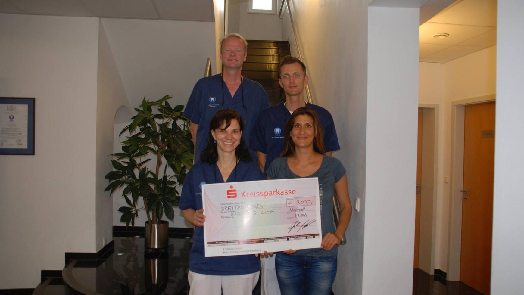 3.000,- Euro Spende für syrische Flüchtlingskinder