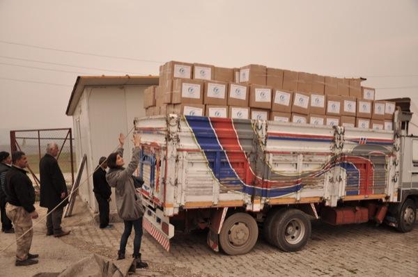 Hilfspakete nach Syrien