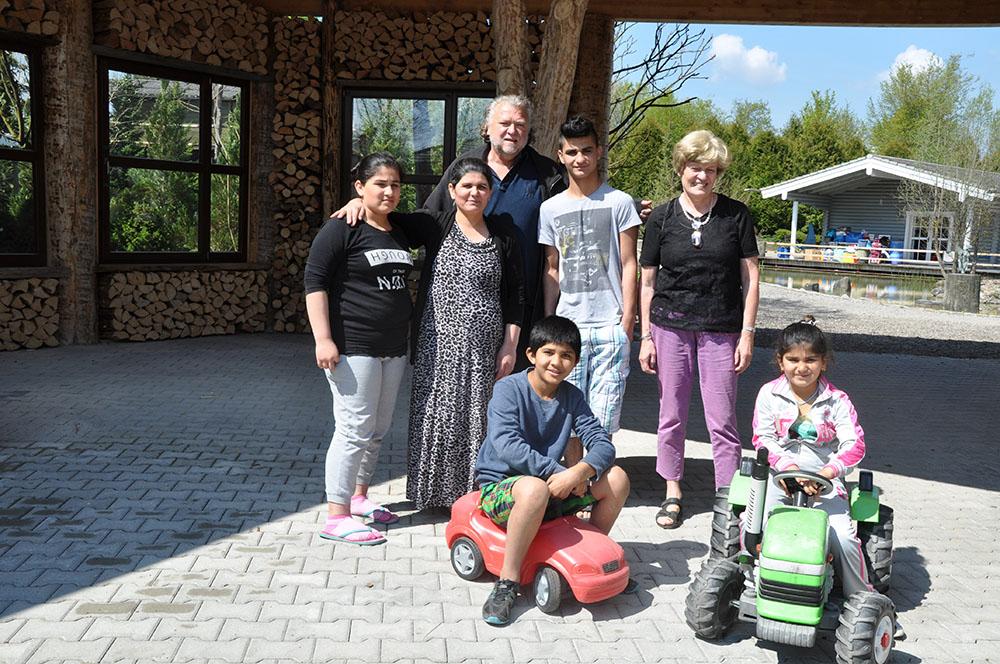 Umzug der irakischen Flüchtlingsfamilie