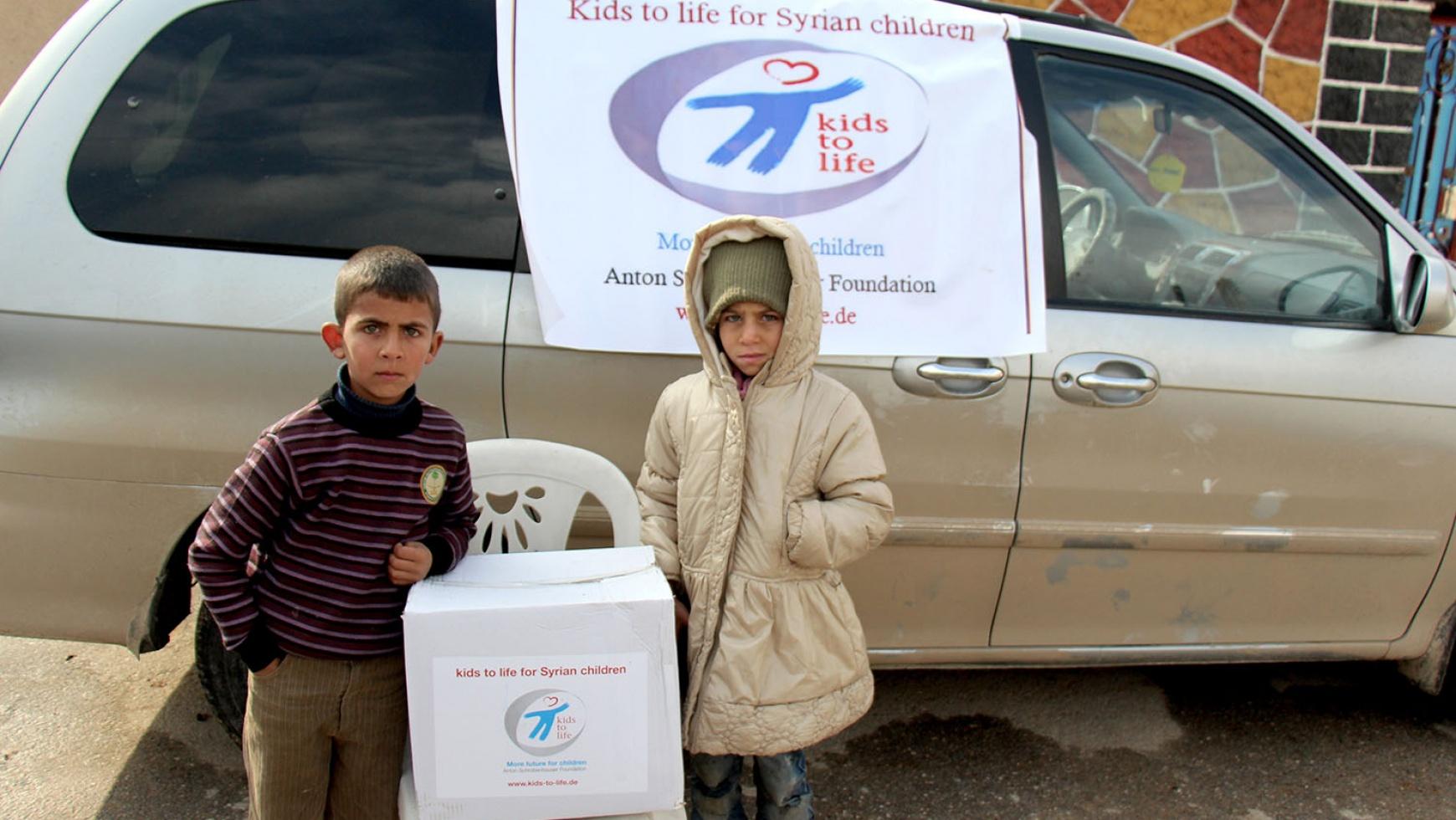 1.000 Überlebenspakete für Kinder in Syrien