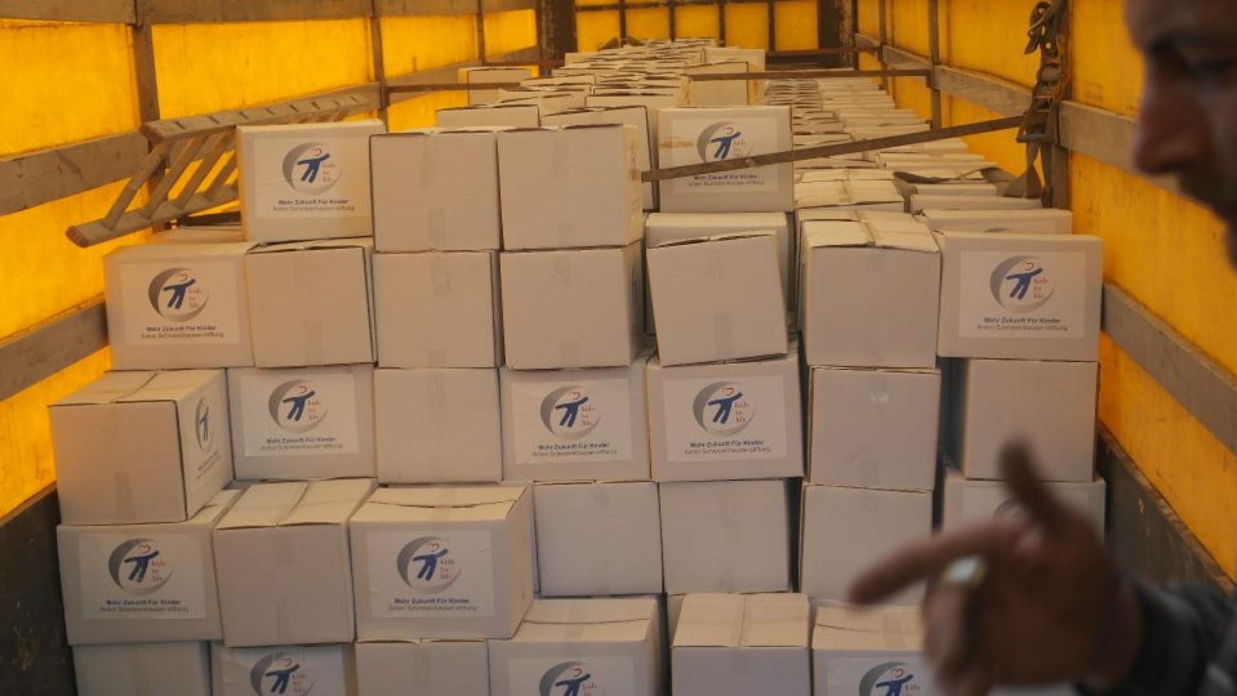 1.000 Überlebenspakete in Syrien angekommen