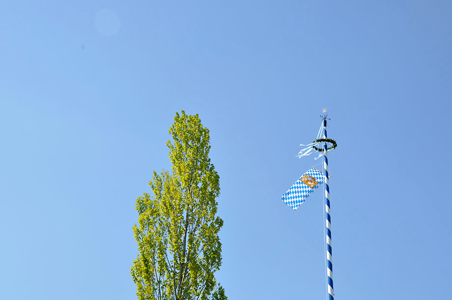 Maifest mit Spatenstich und Maibaumaufstellen