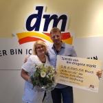 5.555,55 Euro Spende von dm-drogerie markt
